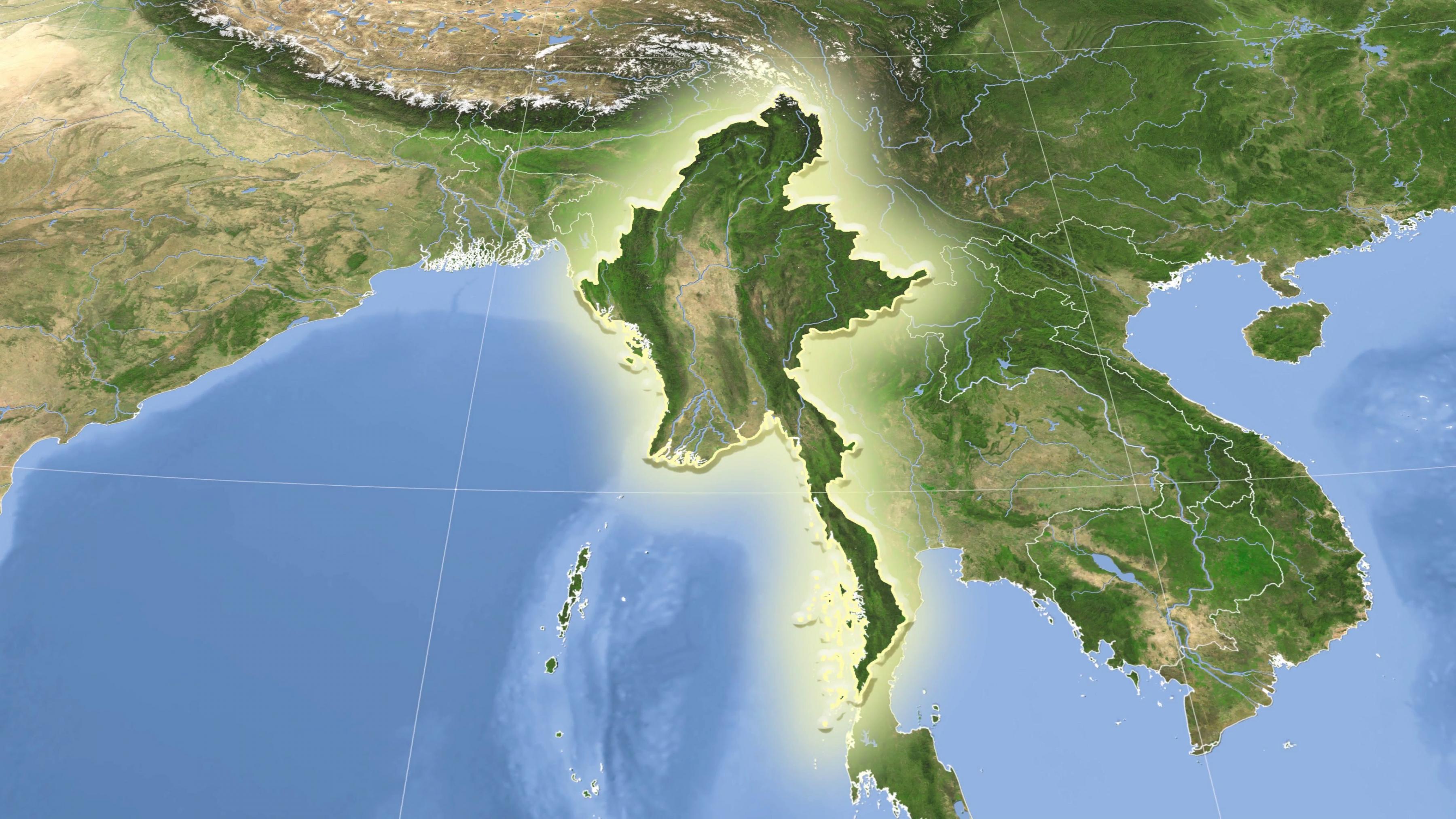 Myanmarin Satelliitti Kartta Myanmar Satelliitti Kartta Elaa