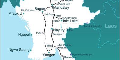 Myanmar Burman Kartta Kartat Myanmar Burman Kaakkois Aasia